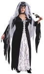 Bride Of Darkness Adult Costume (Plus Size) - She is one Dark Soul.  Includes: dress with coffin lining material inset, tie boddice and veil.  Black roses not included. Sizes 16-24.
