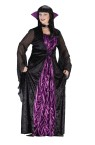 Countess of Darkness Adult Costume (Plus Size) - If there ever was a Gothic style costume this is it!  Includes: dress with coffin material inset, tie bodice, collar with choker (attaches separately). Sizes 16-24.