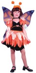 Butterfly Child Costume - Includes: Velvet dress with attached cord, waist tie, petal edge sparkle apron, sparkle wings and shimmery shoulder epaulets..