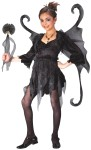 Midnight Fairy Child Costume - Includes: dress with tie, wand, wings and shoulder tatters.