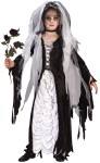 "Bride of Darkness Child Costume - Includes: gothic gown with lace up bodice and coffin drape velvet inset, shoulder tatters, bodice ribbon, choker and headpiece. Also available in Adult Size: <a href=""/BRIDE-OF-DARKNESS-ADULT-COSTUME-Grp-123FW1424.aspx"">FW1424 </a>& Plus Size: <a href=""/BRIDE-OF-DARKNESS-ADULT-COSTUME---PLUS-SIZE-Grp-123FW5743.aspx"">FW5743</a>."