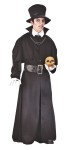 "Grave Digger Child Costume - Authentic period look!  Costume includes: long sleeve cloak with capelet, belt, hat and dickie. Also available in Plus Size: <a href=""http://www.http://www.halloweencostumesale.com/GRAVE-DIGGER-ADULT-COSTUME---PLUS-SIZE-Grp-123FW5765.aspxcom/grave-digger-Prod-345grave-digger.aspx"">FW5765 </a>& Teen Size: <a href=""/GRAVE-DIGGER-TEEN-COSTUME-Grp-123FW1665.aspx"">FW1665</a>."