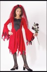 "Devil Bride Child Costume - Drop sleeve dress with shredded edges and corresponding headpiece. *Flowers, shoes and stockings not included. Also available in Adult Size: <a href=""/DEVIL-BRIDE-COSTUME-Grp-123FW5144.aspx"">FW5144 </a>& Plus Size: <a href=""/DEVIL-BRIDE-ADULT-COSTUME---PLUS-SIZE-Grp-123FW5794.aspx"">FW5794</a>."