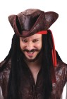 Deluxe Pirate Tricorn Hat - Faux leather soft-sculptured foam tricorn pirate hat with an aged appearance. Great to complete any pirate outfit for Halloween...