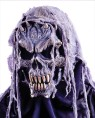 Horrifying Zombie mask with rotted-look stringy detailing. Latex face mask with cloth back for easy wear.