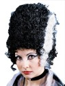 Monster Bride Wig - Traditional tall style wig with white trail sides.
