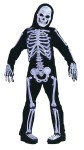 Skelebones Child Costume - Includes jumpsuit with sculpted gloves, shoe tops and hooded skull mask.