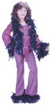 "Our Disco Diva Child Costume includes purple pants with marabou feather trim, tank top, jacket with shiny jacket and marabou feather trim and a matching sash. Also available in Teen Size: <a href=""/DISCO-DIVA-TEEN-COSTUME-Grp-123FW1606.aspx"">FW1606</a>."