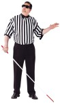 "Blind Referee Adult Costume (Plus Size) - Striped shirt and glasses comes with tap cane. Just add your own black pants. Also available in Child Size: <a href=""/blind-referee-child-costume-grp-123fw90164.aspx"">FW90164</a>."