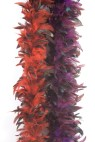 Traditional style 1920s feather boa. 6 feet long.