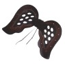 Goth Glitter Wings - Black wings with teardrop-shaped cutouts and burgundy trim.