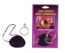 Satin eye patch with metal clip earring.