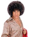 Disco Fro Wig - Large, dark brown afro wig in traditional 70s style.