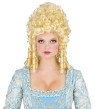 Heads will roll! Marie Antoinette style wig with long side curls and high fluffy curl top.