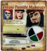 Zombie Family Makeup-Professional quality makeup is hypoallergenic. Makeup tray with 4 cream colors: black, White, green and red. Also includes pencil, blood, horror flesh, tooth black, 2 brushes, 2 sponges. and a foam applicator.