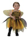 Costume includes: Precious Bee Striped Dress and Wings. One size, fits up to 24 months.