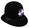 Super top quality police hat with vinyl headband and metal badge. Black Only.