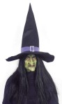 Giant Witch Hat - Foam Cloth. 21 tall with 17 wide wire rim.