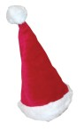 Party hat designed to be worn as a normal hat. One size allows desired fit over your own hair. Lined hat with plush detailing.