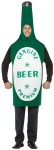 Beer Bottle Adult Costume - New light weight foam, green beer bottle over the head tunic costume. Sure to be the life of the party!
