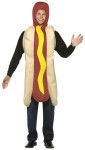 Hot Dog Adult Costume - Look good enough to eat! One piece foam construction hot dog and bun with mustard accent. One size fits most adults.