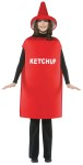 Ketchup Adult Costume - Everyones favorite condiment! Tunic with coordinating hat. One size fit most adults.