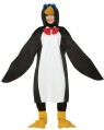 Penguin Adult Costume - One piece tunic with wings and attached hood. Also includes tall flipper shoe covers. One size fits most adults.