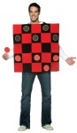 King Me! Checkers Adult Costume - Family fun! A board vest, 5 black checkers, and and 5 red checkers that stick to the costume!