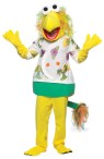 Fraggle Rock Wembly Adult Costume - Colorful head, body, gloves, and pants with attached shoecovers.