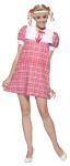 Brady Bunch Cindy Adult Costume - Sweet minidress with puffed sleeves for the youngest sister.