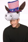 Patriot Donkey Hat - Plush donkey head with patriotic top hat attached. One size fits most.
