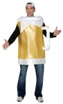 Theres nothing like a frosty beer! One piece, 100% polyester costume. One size fits most adults.