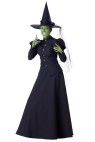 Wicked Witch Adult Costume - Full length gown, tulle petticoat, hat with tulle sash and stick on black fingernails. Large fits bust 37-39.5, waist 29-31.5, and hips 39.5-42; Medium fits bust 35-36.5, waist 27-28.5, and hips 37.5-39; Small fits bust 33-34.5, waist 25-26.5, and hips 35.5-37; X-large fits bust 40-43, waist 32-35, and hips 42.5-45.5.