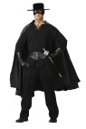 "Bandido Adult Costume - Gauze shirt, satin cape, studded belt, studded gloves, hat, mask and fencing sword. Pants not included. Medium fits chest 38-40 and waist 32-34; Large fits chest 42-44 and waist 36-38; X-large fits chest 46-48 and waist 40-42. Also available in Plus Size: <a href=""/bandido-adult-costume---plus-size-grp-123ic5013-plus.aspx"">IC5013-Plus</a>."