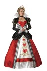 "Queen of Hearts Adult Costume - Full length gown with printed heart details and gold trim, hoop and tulle petticoat, velvet jeweled choker and sequin heart tiara. Large fits bust 37-39.5, waist 29-31.5, and hips 39.5-42; Medium fits bust 35-36.5, waist 27-28.5, and hips 37.5-39; Small fits bust 33-34.5, waist 25-26.5, and hips 35.5-37; X-large fits bust 40-43, waist 32-35, and hips 42.5-45.5. Also available in Plus Size: <a href=""/queen-of-hearts-adult-costume---plus-size-grp-123ic5017-plus.aspx"">ic5017-plus</a>."