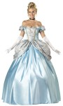 Enchanting Princess Adult Costume - Full-length satin and brocade ball gown with attached peplum, hoop petticoat, long white gloves, jeweled choker and sequin tiara. Large fits bust 37-39.5, waist 29-31.5, and hips 39.5-42; Medium fits bust 35-36.5, waist 27-28.5 and hips 37.5-39; Small fits bust 33-34.5, waist 25-26.5, and hips 35.5-37; XL fits bust 40-43, waist 32-35, and hips 39.5-42.