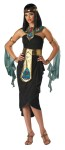 Cleopatra Adult Costume - Dress with hip drape, sequined arm/wrist bands with drapes, sequined jeweled headband, collar and apron belt.
