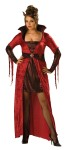 Seductive Devil Adult Costume (Plus Size) - Dress with collar and attached brooch plus horns. Stockings not included.