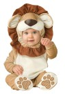 Lovable Lion Todler Costume - Hood with ruffled mane and bodysuit with snaps for easy diaper change and skid resistant feet.