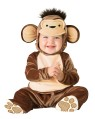 Mischievious Monkey Toddler Costume - Hood with plush tuft and bodysuit with snaps for easy diaper change and skid resistant feet.
