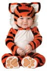 Tiger Tot Toddler Costume - Hood with plush details and bodysuit with snaps for easy diaper change and skid resistant feet.