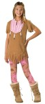Sassy Squaw Child Costume - Top, character printed faux beaded, feather accented chest piece, leggings and feather detailed headpiece.