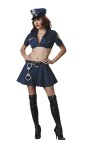 "Officer Naughty Adult Costume - Stretch poplin crop top an dmini skirt with embroidered patches, vinyl belt, boot tops, hat and toy handcuffs. Large fits bust 37-39.5, waist 29-31.5, and hips 39.5-42; Medium fits bust 35-36.5, waist 27-28.5, and hips 37.5-39; Small fits bust 33-34.5, waist 25-26.5, and hips 35.5-37; X-small fits bust 31-32.5, waist 23-24.5, and hips 33.5-35. Also available in Plus Size: <a href=""/officer-naughty-adult-costume---plus-size-grp-123ic5205-plus.aspx"">ic5205-plus</a>."