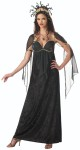 Mythical Medusa Adult Costume - Floor length gown with gold trim detail and shimmer fabric treatment on sleeves an dbodice, and deluxe sequined snake headpiece. Necklace not included. Large fits bust 37-39.5, waist 29-31.5, and hips 39.5-42; Medium fits bust 35-36.5, wasit 27-28.5, and hips 37.5-39; Small fits bust 33-34.5, waist 25-26.5, and hips 35.5-37; XL fits bust 40-43, waist 32-35, and hips 42.5-45.5