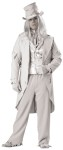 "Ghostly Gent Adult Costume (Plus Size) - Coat, vest with attached shirt sleeves, pants, dickie with scarf collar, hat, gloves, and wig. All tattered for aged effect. XXL fits chest 50-52 and waist 46-48; XXXL fits chest 54-56 and waist 50-52. Also available in Standard Size: <a href=""/ghostly-gent-adult-costume-grp-123ic1034.aspx"">ic1034</a>."