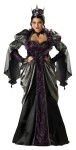 "Wicked Queen Adult Costume (Plus Size) - Full length long sleeve gown with attached peplum and sweeping hem; petticoat, sequined crown and jeweled lace choker. Adult Size 20-22(XXL) fits bust 48-51.5, waist 40.5-45, and hips 50.5-54. Also available in Standard Size: <a href=""/wicked-queen-adult-costume-grp-123ic1056.aspx"">ic1056</a>."