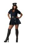 "Officer Naughty Adult Costume (Plus Size) - Stretch poplin dress with embroidered patches, vinyl belt, boot tops, hat and toy handcuffs. XL fits bust 40-43, waist 32-35, and hips 42.5-45.5; XXL fits bust 44-47.5, waist 36-40, and hips 46.5-50. Also available in Standard Size: <a href=""/officer-naughty-adult-costume---very-hot!-grp-123ic2010.aspx"">ic2010</a>."