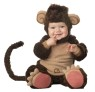 This adorable monkey will be swinging from vines in no time. Lil Monkey Lil Character Costume includes lined zippered bodysuit with snap closure, attached tail, slip-on skid resistant booties, and hood with ears. Booties are intended for indoor use only.