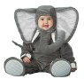 Will look cute for peanuts. Lil Elephant Character Costume includes lined zippered bodysuit with snap leg closure, attached tail, slip-on non-skid booties, and hood with trunk and ears. Booties are intended for indoor use only.