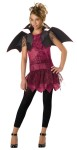 Twilight Trickster Child Costume - Dress, vest with attached wings and leggings.